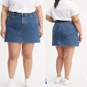 NWT Levi's Plus deconstructed denim jean skirt